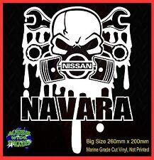 NAVARA 4X4 Turbo Diesel Stickers UTE Window for Nissan SKULL  SPANNERS BIG 260mm