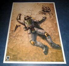 original art sketch BOBA FETT CHRIS SCALF on Boba Fett is Dead 1 RRP 17x24 litho