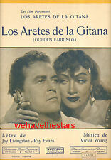 "Golden Earrings ""Golden Earrings"" Marlene Dietrich Ray Milland ARGENTINA"