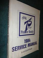 1984 CHEVROLET MONTE CARLO / CUTLASS / REGAL++ BODY SHOP MANUAL ORIGINAL SS