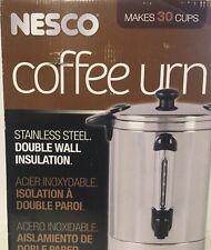 NESCO Coffee Urn 30-Cup Capacity 950-Watt Double-Wall Insulation Electric Server