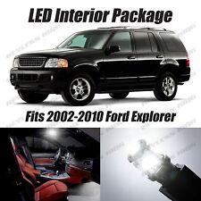 17 pcs LED White Lights Interior Package Kit For Ford Explorer 2002-2010