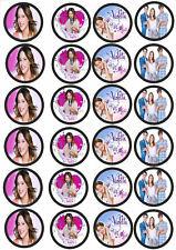 24 Muffin & Cupcake Aufleger  Oblate - Fondant Violetta  C2