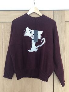 Karl Lagerfeld Fun Choupette Sweater Cat Jumper, BNWT, Size L