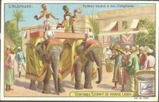 Liebig - The Elephant S701 (French) - Hindu Theatre on the Back of Elephants