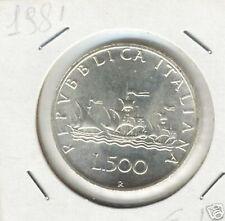 Italia 500 lire 1981 FDC da divisionale  KM 98 argento silver