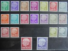 SAAR 1957 President Heuss (Without F), Complete Set of 20 m/h