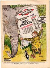 BOUCQ Libération 1999 Angoulême Edika Peyo Schtroumpfs Tronchet Ted Benoit Clerc
