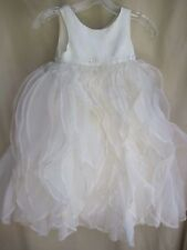 Fairy Tale Wedding Dress flower girl pageant cascade ruffles bling child 5 ivory