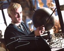 Tom Felton Signed Harry Potter Photo Draco Malfoy Includes Fanex COA  and Proof.