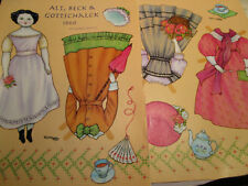 Karen Reilly Alt Beck & Gottschalck 1860 style Magazine Paper Doll / Uncut