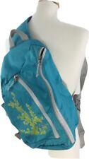 EDDIE BAUER Blue Floral Messenger School Shoulder Cross Body Bag