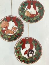Christmas Ornament Squirrel Crewel Embroidery Kit Complete Sealed Vtg Retro1979