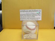 B. J. Ryan  Autographed Baseball with Certificate Back Stop Sports