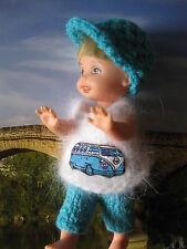 Shelly Kelly Barbie Tommy poupées vêtements poupée à la main Omnibus angora