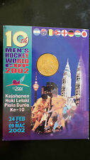 2002 Malaysia 10th Men's Hockey World Cup Nordic Gold Coin ( B.U )