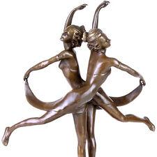 Figurengruppe 'Tanzende Schwestern', *1926 BROADWAY - TWIN DANCE ART DÈCO BRONZE