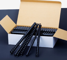 More details for plastic binding combs black a4 21 ring loop
