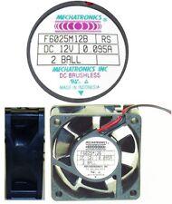 Double Ball Bearing 60mm*25mm Mechatronics F6025M12B 12VDC/12V/7/9/14V Fan 2wire