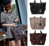 Women's Hobo Buckle Belt PULeather Shoulder Bag Tote Satchel Messenger Handbag