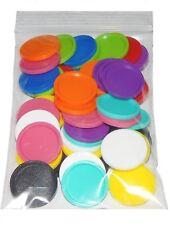 25 Einkaufswagenchips Bunt Gemischt EKW Chip Pfandmarken Kunststoff