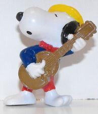 Snoopy Playing Guitar Olympics Figurine 2 inch Plastic Peanuts Figure SNP018