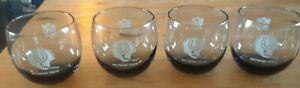Lot of 4 Vintage 1970s BALTIMORE COLTS Cocktail Bar Lowball Glasses Smoked NFL