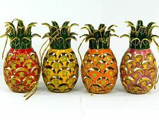 Cloisonne Copper Enamel Fruit Pineapple Statue Figurine Home Ornament