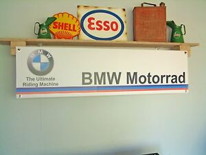 BMW Motorrad banner Motorcycle Workshop Garage Display Printed Sign