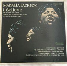 I BELIEVE MAHALIA JACKSON VINYL LP ALBUM 1960 COLUMBIA RECORDS 6 EYE DEMO RECORD