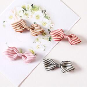 5-50 Pcs Stripe Ribbon Bow Flower Crafts Sewing Applique Decor