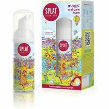 Splat Junior Magic Oral Care Foam - Calcium & Milk Enzymes 50ml (Pack of 2)