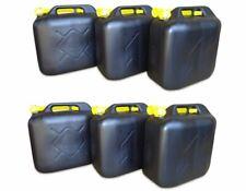 6 x 20 Liter Dieselkanister Benzinkanister UN-Zulassung schwarz inkl. Ausgießer