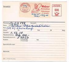 Baumaschinen Rüttler Weber Oberndorf Laasphe 1960 Rückersh  AFS Archivkt Unikat
