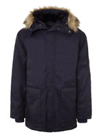 FRENCH CONNECTION Bystander Parka Hooded Navy Blue Mens Size UK S *REF154
