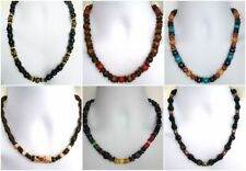 Wooden Beaded Chain Costume Necklaces & Pendants