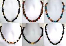 Wooden Mixed Metals Beaded Costume Necklaces & Pendants