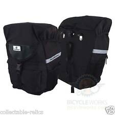 Bicycle Pannier Bags Pair Waterproof Rear Rack Carrier 3M Reflective 600D Bike 2