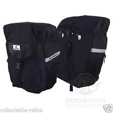 Bicycle Pannier Bags Pair Waterproof Rear Rack Carrier 3M Reflective 600D Bike 2