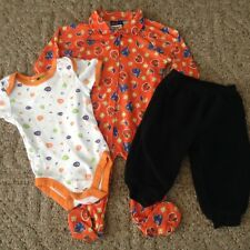 Baby unisex 3-piece lot Halloween clothing size 9-12 months