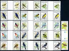 👉 MALAWI 1988 tropical BIRDS (gutter pairs) MNH CV$105.00