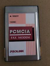 Prolink 1428c AT28CA V.34 PCMCIA Data/Fax Modem PC Card