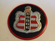 """Vintage Car Premium Emblem Hudson Logo Tin Litho Round 3 1/4"""""""