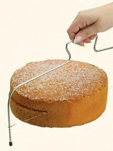 ADJUSTABLE CAKE CUTTING WIRE BREAD SLICER CUTTER LEVELLER UTENSIL DECORATING NEW