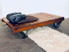 Rollpalette I Couchtisch I INDUSTRIAL I Tisch I Rolltisch I LOFT I Patina