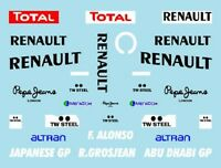 F1 DECALS MUSEUM COLLECTION D548 1/43 FOR RENAULT R29 JAPAN & ABU DHABI GP
