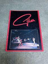 GILLAN 1981 UK Tour Programme with CONCERT TICKET STUB!