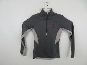 Under Armour Harvard Crimson 1/2 Zip Active Jacket Cold Gear Gray Womens Small