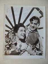 "Antonio and Rosario Autographed 8"" X 10"" Photograph from Estate"