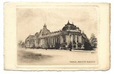 Antique Etching Leopold Robin Signed Postcard Paris Petit Palais